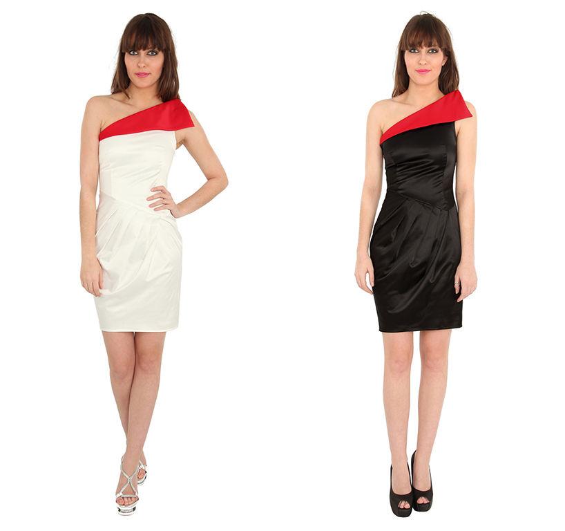 Goddiva Asymmetric Pleated Dress | eBay
