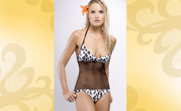 swimwear mesh black and white swimwear