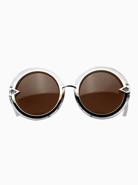Vintage Round Sunglasses in Transparent Color   Choies