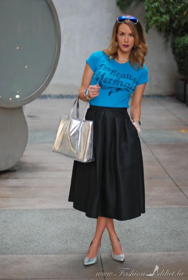 fashion addict shirt skirt shoes bag jewels