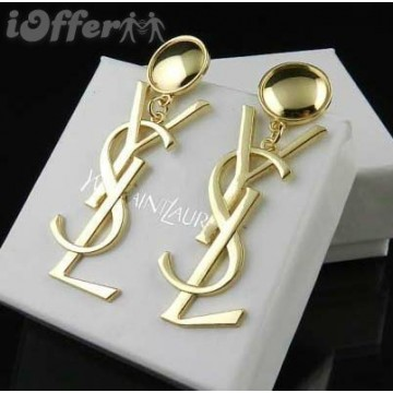 LATEST YSL WOMEN'S GIRL'S EARRINGS GOLD AND SILVER YSL WOMEN'S GIRL'S EARRINGS GOLD AND SILVER