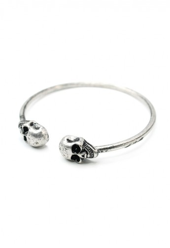 Chicwish Twin Skull Bangle Bracelet  - Retro, Indie and Unique Fashion