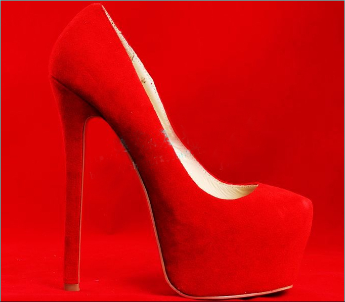 new 2014 genuine leather high heel shoes high quality red bottom pumps red sole ladies sexy fashion wedding shoes dress heels-in Pumps from Shoes on Aliexpress.com