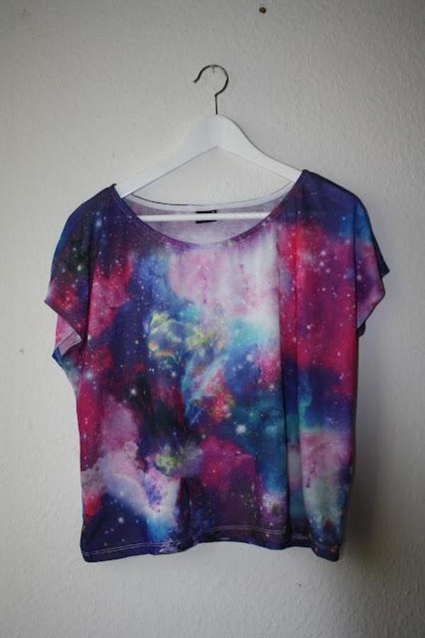 t-shirt galaxy print