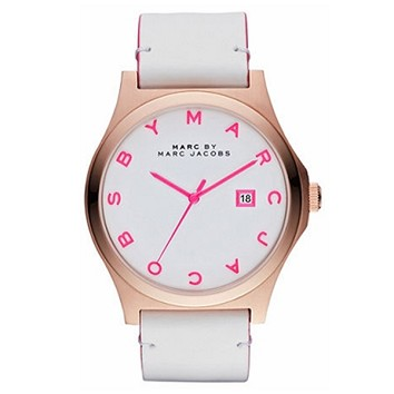 Marc by Marc Jacobs Henry White & Pink MBM1248 ~ Watch.nl (€199.00) - Svpply