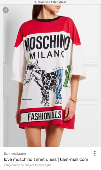 dress moschino baggy t shirt