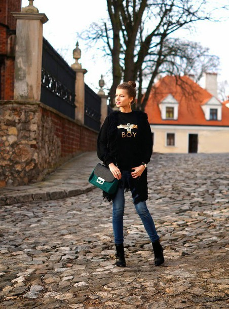 only my fashion style blogger jeans sweater boy london