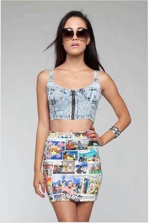 Denim Bustier   Forever Mint   Online Store Powered by Storenvy