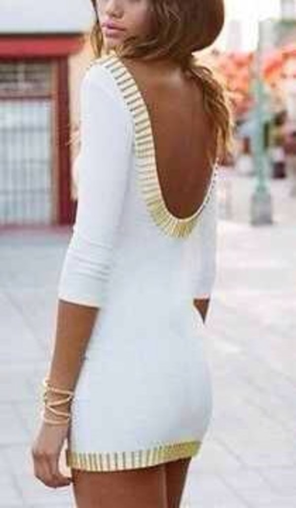 dress white long-sleeve mini white dress