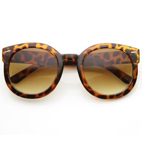 Womens Designer Round Oversize Retro Fashion Sunglasses 8623                             zeroUV