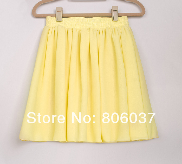 Chiffon material Fashion pleated skirt,European and American style Good quality short skirt-in Skirts from Apparel & Accessories on Aliexpress.com
