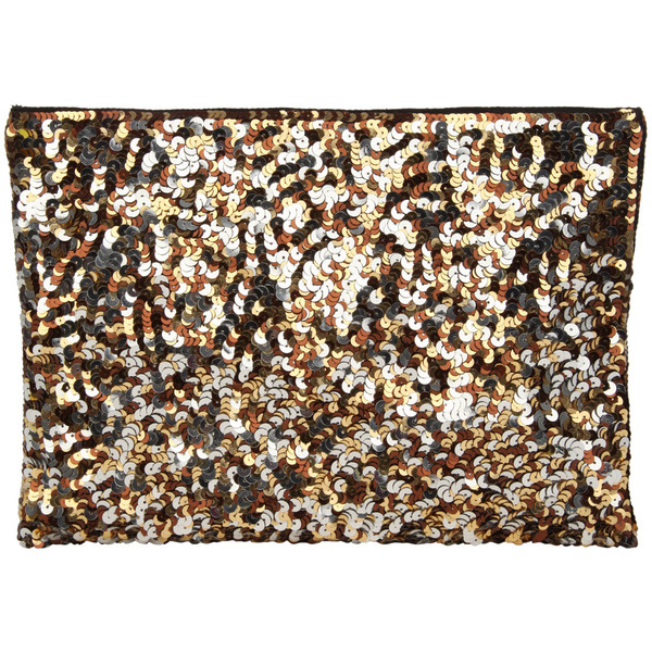 Jane Norman Gold All Over Sequin Clutch Bag - Polyvore