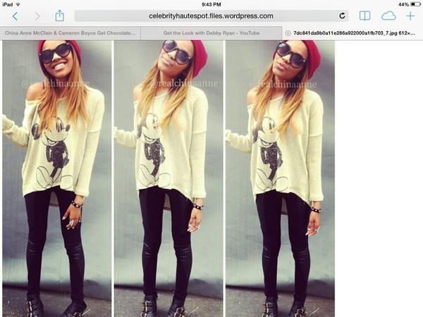 sweater china anne mcclain