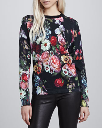 Ted Baker London Edryss Oil Painting Printed Sweater - Neiman Marcus