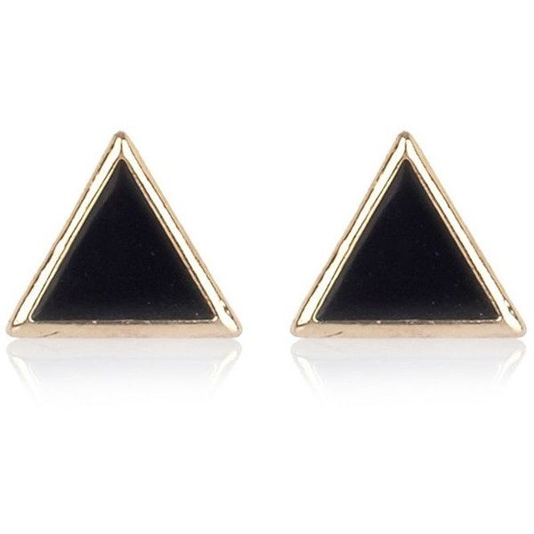 River Island Black triangle stud earrings - Polyvore