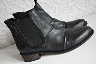 black shoes boots low boots shoes leather ankle boots