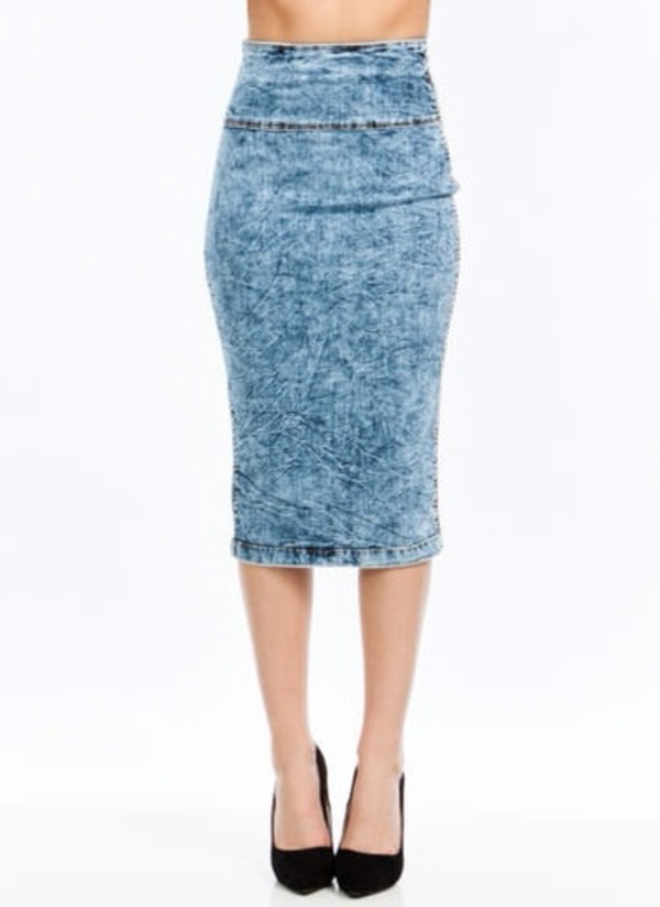 skirt denim pencil skirt