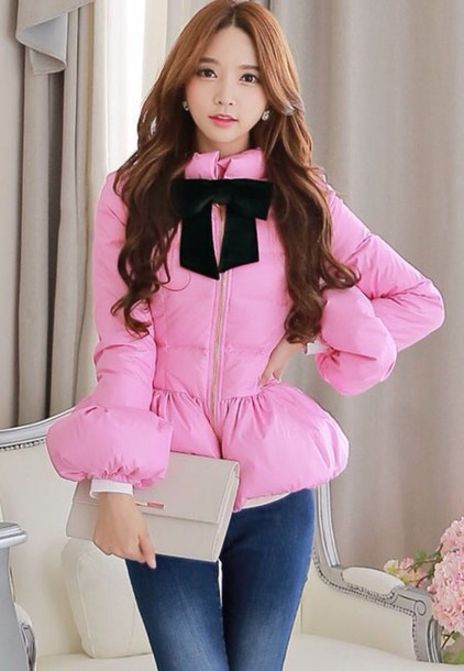 jacket pink winter jacket gloves