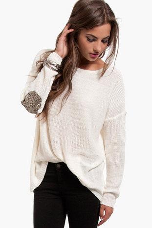 REHAB Glam Patch Sweater ~ TOBI