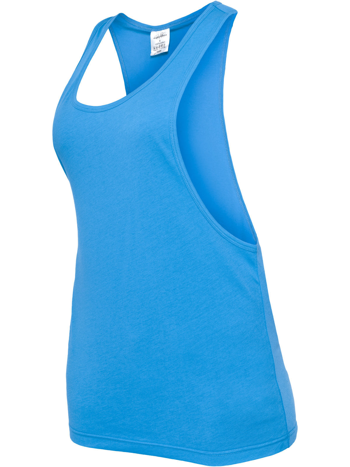 Urban Classics Ladies Loose Tank Turquoise Top for Woman