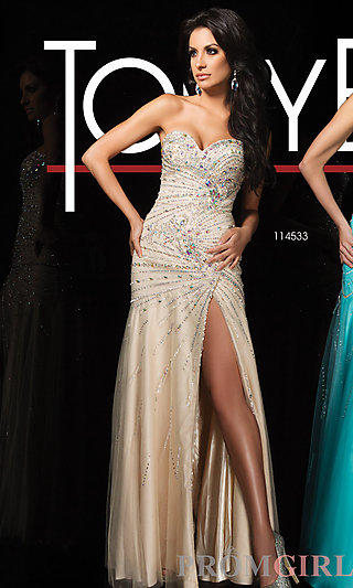 Prom Dresses, Celebrity Dresses, Sexy Evening Gowns - PromGirl: Tony Bowls Strapless Dress