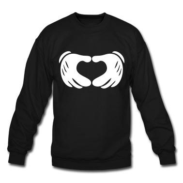 Mickey Hands - Heart Sweatshirt   Spreadshirt   ID: 11717568