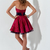 Adorable Plaid Strapless Minidress With Bold Skirt
