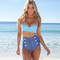 Retro swimwear vintage high waisted denim bottoms padded bustier top bikini set | ebay