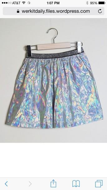 skirt holographic kawaii kawaii grunge fashion fairy kei fairy tale