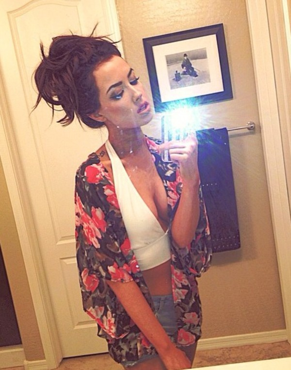cardigan kimono chiffon shirt