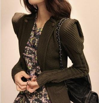 jacket pull noir pullover blouse veste noire