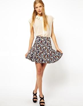 ASOS | ASOS Mini Skirt in Floral Print at ASOS
