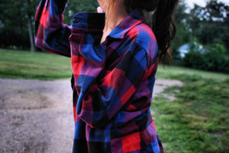 print multi plaid shirt
