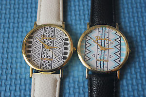 NEW Geneva Platinum Aztec Print Watch FOR Woman MAN Analog Quartz Wirst Watch | eBay