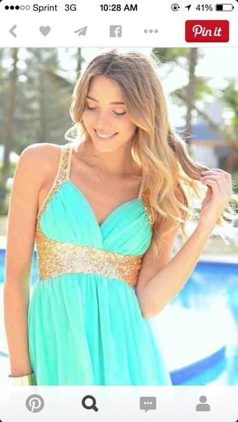 dress gold & mint