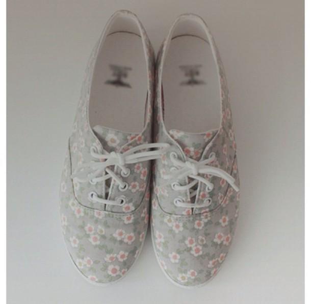 shoes oxfords grey floral