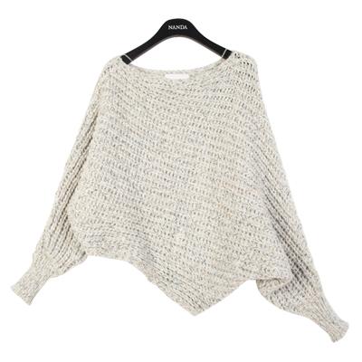 Dolman Sleeved Knit Sweater