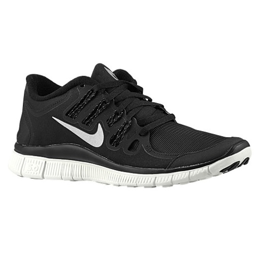 Nike Free 5.0   Shield - Women's - Running - Shoes - Black/Reflective Silver/Summit White