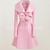 Korean Fashion Women's Pink Wool Parka Trench Coat Jacket Slim Outwear M L XL   eBay