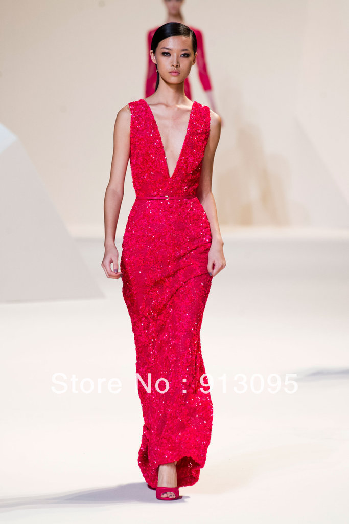 Aliexpress.com : Buy Free shipping Luxury Elie Saab evening dress 2013 Red lace beaded long prom dresses For sale from Reliable dress patterns prom dresses suppliers on Suzhou dreamybridal Co.,LTD