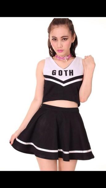 dress goth cheerleading