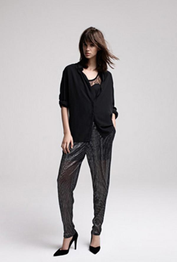 pants maje fashion lookbook tank top
