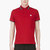 moncler red signature stripe logo polo