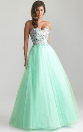 A-line Tulle Blue Princess Prom Dress Online KissyDress UK