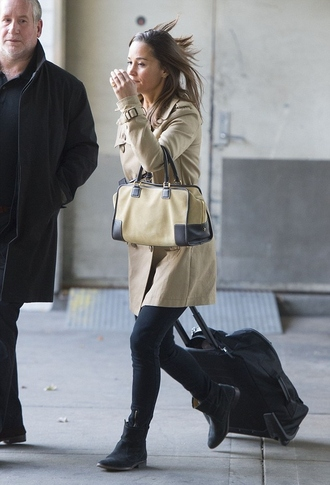 pippa middleton coat bag shoes pants loewe bag