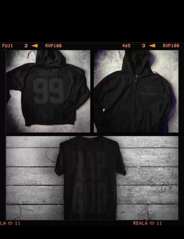 jacket eminem rap god black hoodie t-shirt short sleeve