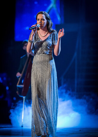dress vintage the voice sophie may williams 1920 old fashioned pretty long prom prom dress long dress silver sparkle