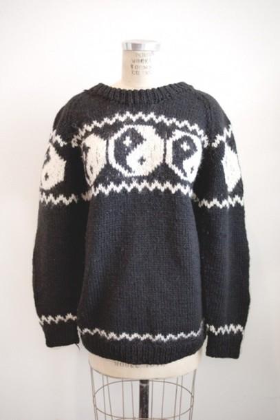 sweater yin yang sweater