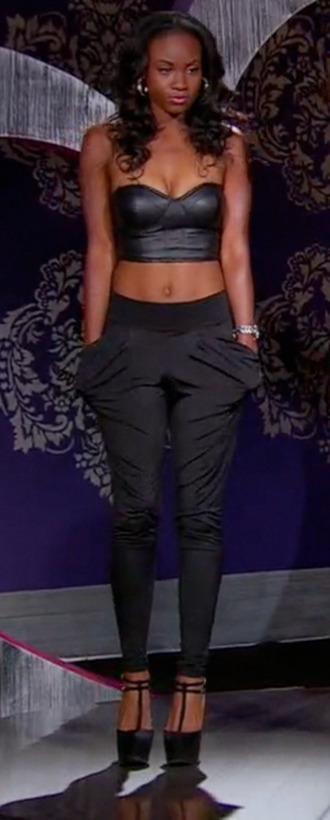 pants pockets black pants black tiana bgc11 bgc bad girls club bgasb bgasb2 bad girls all star battle