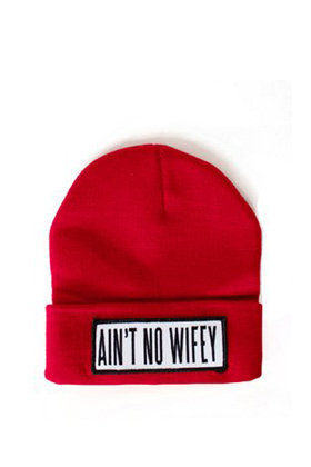 AINT NO WIFEY BEANIE on The Hunt
